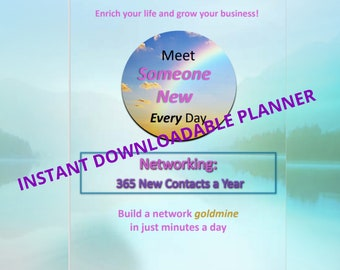 Networking Planner | Social Media Tips | Marketing | 12-month Instant Download | Letter | A4 | A5