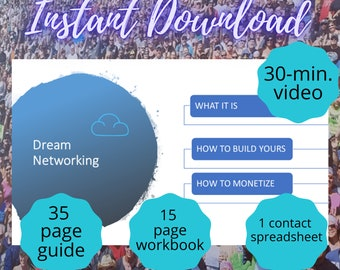 Networking Presentation Deck & Video | Marketing Downloadable Template | Campaign Tools | Workbook | Prospect Spreadsheet | Letter | A4 | A5