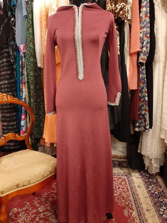 Hooded dress 1970's
