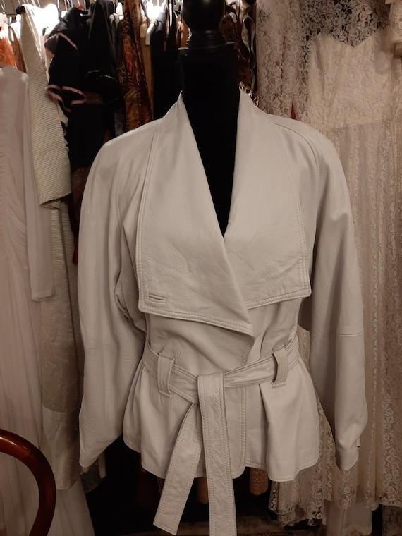 White leather jacket 1980's