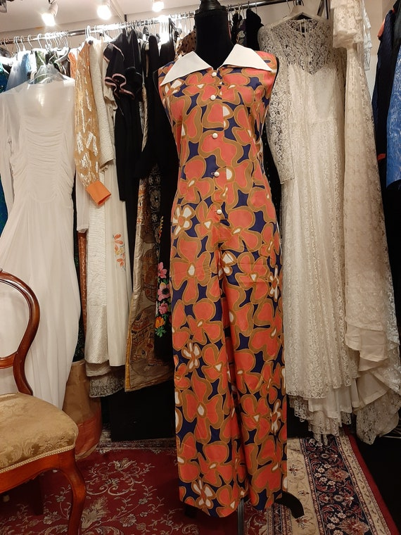 Flower power jumpsuit 1970's