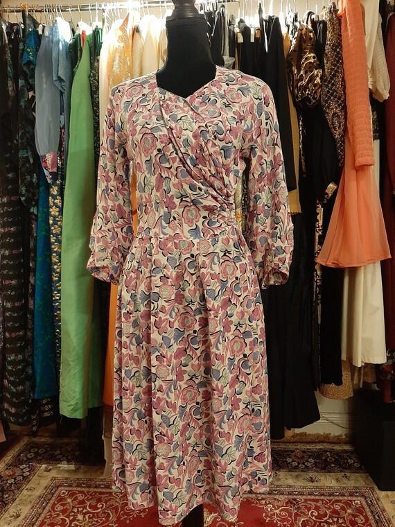 Floral dress 1940's