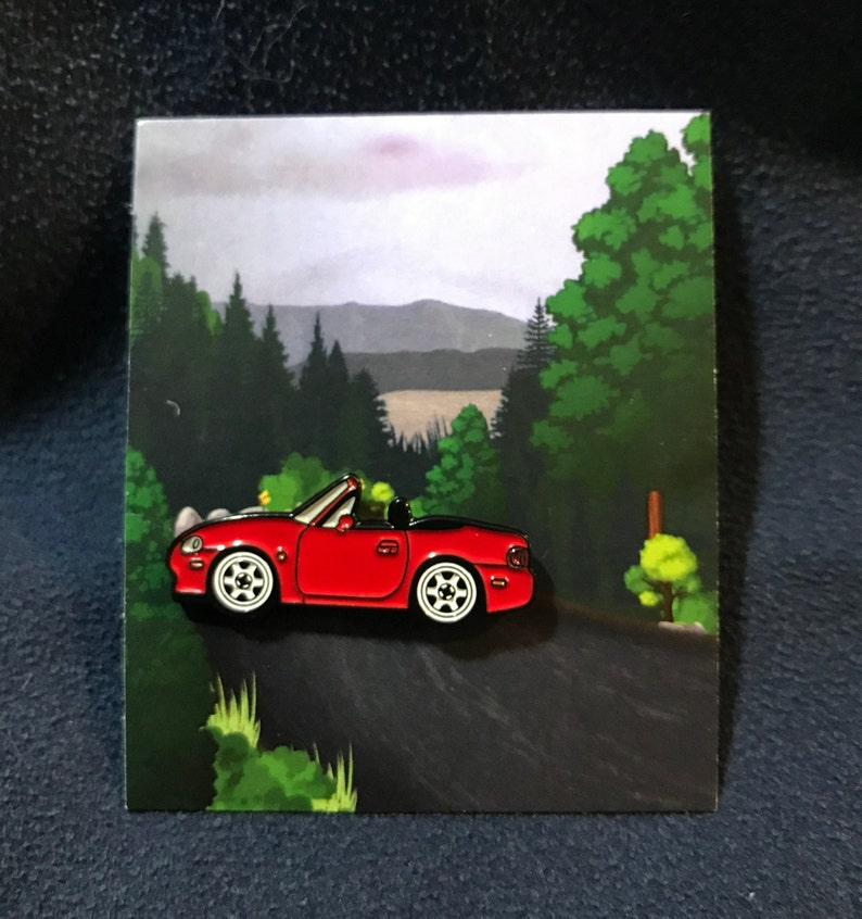 NB RED Enamel Auto Pins Miata MX5 Roadster Lapel Pin NB Red
