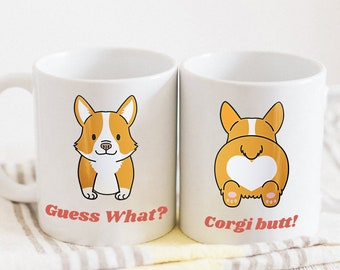 Corgi Butt Corgi Butt Mug Cup Corgi Fluffy Coffee Welsh Corgi Butt Corgi Butt