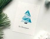"""Postkarte Weihnachtsbaum, """"Oh Tannenbaum ..."""""""