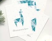 """Postkarten Set """"Weihnachten"""", geometrisch"""