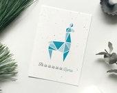 "Postkarte Llama, Weihnachten ""Fa la la la la la Llama"""