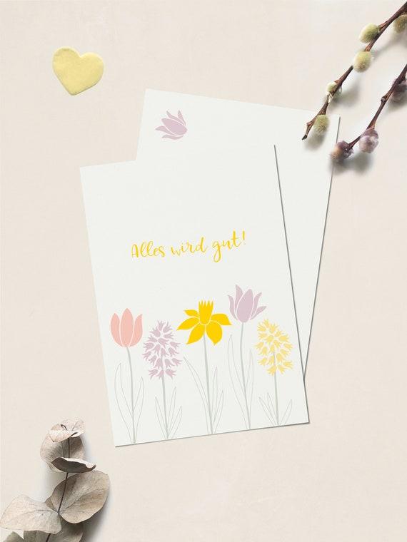 "Postkarte ""Alles wird gut!"" Frühlingsblumen"