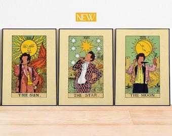 printable digital poster print HARRY STYLES music fashion alternative PORTRAIT in yellow