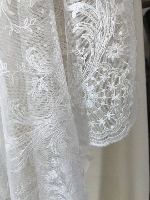 Antique lace French rare wedding dress