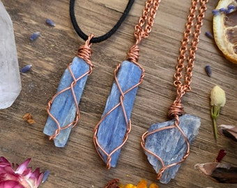 Blue Stone Bar Necklace Raw Kyanite Jewelry Blue Kyanite Necklace Blue Kyanite Raw Stone Necklace