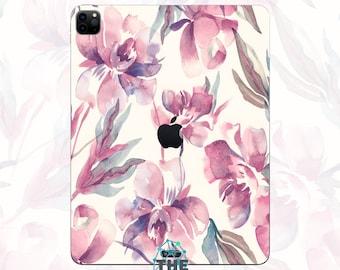 Flowers iPad Skin painting iPad decal art iPad sticker Water lily iPad pro decal iPad air skin iPad mini case 9.7 10.5 12.7 inch IPA189