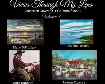 Views Through My Lens -digital pdf download grayscale coloring book