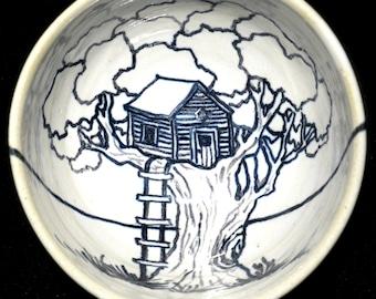 Bowl thread running in a tree