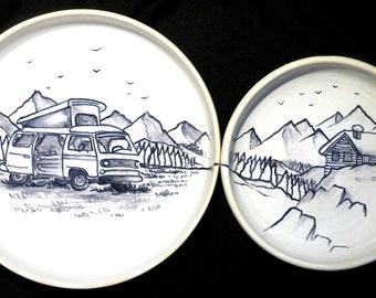 """Duo """"Combi Volkswagen in the Mountains"""""""