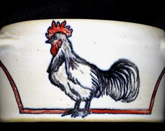 Cassolette mini-soup with hen handles collection Joelle