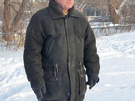 Natural sheepskin shearling coat Made in Czech Rep