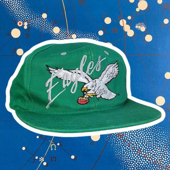 Vintage snapback hat 90s AJD Eagles Philadelphia C
