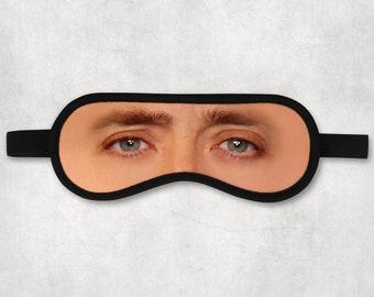NIcolas Cage Sleeping Mask Actor Eye Mask for women men sleeping eye mask svg Adult Funny Gift Gag Party Cotton Skeep Mask rude SM005