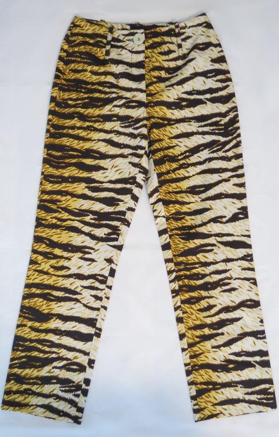 D&G tiger print trousers
