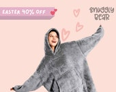 OVERSIZED BLANKET HOODIE Super Cozy Sherpa Giant Big Hooded Sweatshirt For Him Her Comfortable hoodie for Birthday Wedding Valentines Day