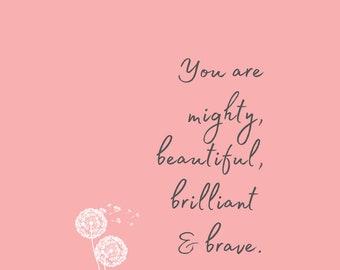 Inspirational Quotes Print