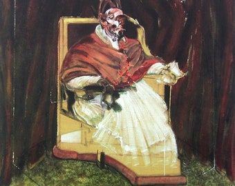 """FRANCIS BACON Portrait of Pope Innocent XII 35.5/"""" x 25.5/"""" Poster 1995"""