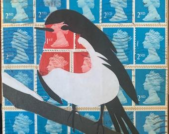 Robin Postage Stamp Coaster