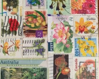 Flower Bouquet Postage Stamp Coaster