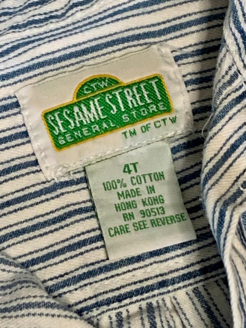 Kids vintage Sesame Street button up
