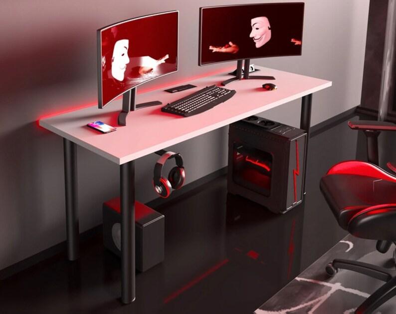 Gaming Schreibtisch Weiß 2021