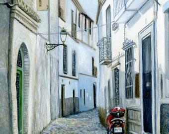 Acrylic Painting: Albaicín, Granada, Spain