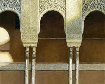 Oil Painting: Alhambra Arches, Granada, Spain