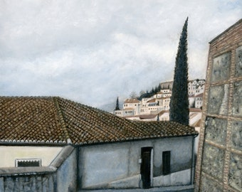 Oil Painting: Carril de la Lona, Granada, Spain