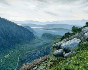 Oil Painting: View at Delphi, Greece