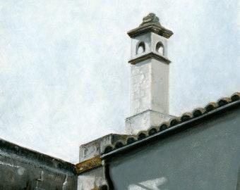 Oil Painting: Dueñas Rooftops, Seville, Spain