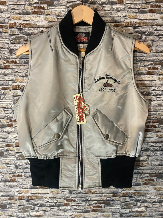 Vintage 70s/80s womens Indian Motorcycle vest With