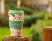 Forest Folk Bamboo Coffee Cup Travel Mug Reusable Cup Sass Belle