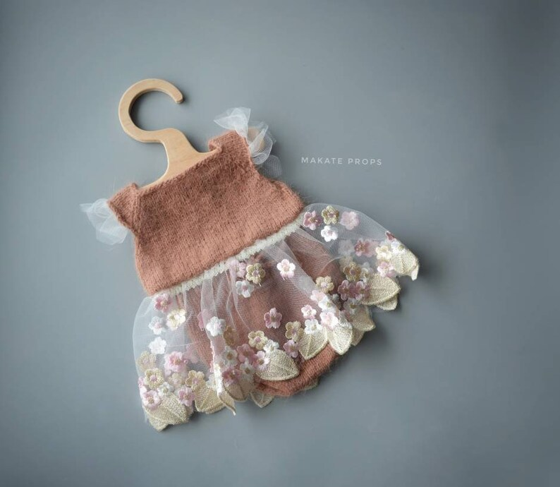 Knitted bodysuit newborn props knitted outfit props newborn props for girl knitted body newborn props lace dress panties newborn props