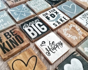 Small hanging/free standing wood signs, kitchen, living room, bathroom, bedroom, be kind, home sweet home, heart, shabby chic, rustic, wood