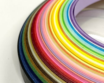 5mm and 10mm wide 100 quilling paper strips in caramel brown 3mm