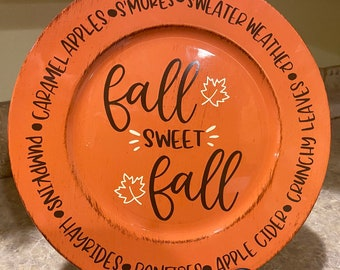 Fall Sweet Fall Charger Plate