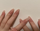 Translucent Pure Gentle False Nails,Girl 39 s Power Glue On Nails,Press On Nails,Long Coffin Nails,Stiletto Fake Nails,Acrylic with all shape