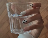 Japanese Manicure,Cute Cow Animal Parttern False Nails,Hand Painting,Girl 39 s Power Glue On Nails,Press On Nails,Coffin Nails,Customize Nails