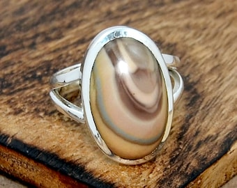 Beautiful Statement Ring Handcrafted with Red Imperial Jasper in Sterling Silver 925  Gifts for Her  Birthday Anniversary  Graduation