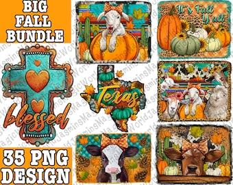 Big Fall Design Bundle 35 PNG File, Fall Bundle Png, Autumn Bundle Png, Fall Pumpkin Png, Fall Y'all Png, Fall Animals Png, Instant Download