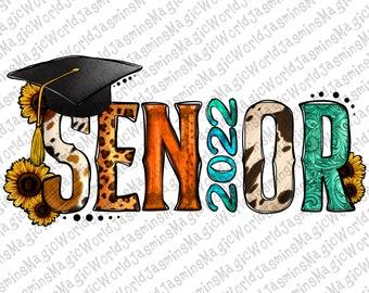 Western Senior 2022 PNG Sublimation Design, Senior 2022 PNG, Graduations 2022 Png,Graduation Class of 2022,Class of 2022, Grad,Sunflower Png