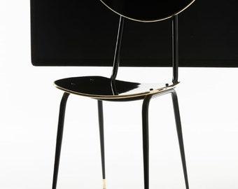 Design chair RAVENNA in black gold
