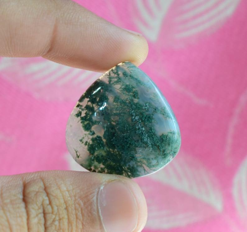Moss Agate Moss Agate Cabochon,Moss agate Green tree agate,Jewelry Making Green Moss Agate