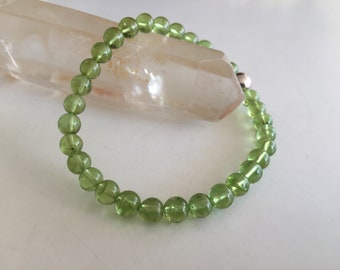 4mm to 5.5mm 10 inches Green Beads Natural Peridot Disc Square Beads Semiprecious Stone Beads Gemstone Beads